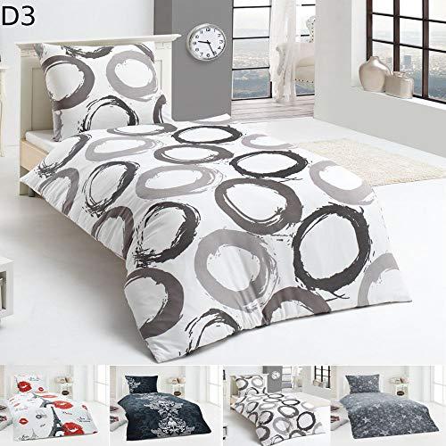 MALIKA Warme Winter Microfaser Flausch Fleece Bettwäsche 135x200 155x220 200x200, Design - Motiv:Design 3, Größe:135 x 200 cm
