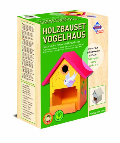 Pebaro 466 - Bastel Holzbauset Vogelhaus