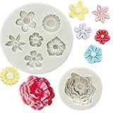 Silikon-Form für Kuchen und Cupcakes, kleine Blumen, zum Dekorieren von Cupcakes, Zuckerguss, Süßigkeiten, Perlen, Fondant #01