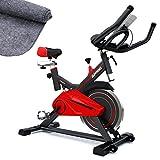 Sportstech Profi Indoor Cycle SX100 mit 13KG Schwungrad, gepolsterter Armauflage, Komfortsattel, Pulsmessung - Speedbike mit flüsterleisem Riemenantrieb - Bodenschutzmatte gratis