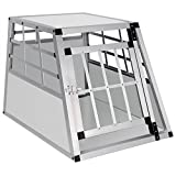 EUGAD Hundebox Transportbox Hundetransportbox Aluminium 1 Türig Reisebox Gitterbox Box 0052HT
