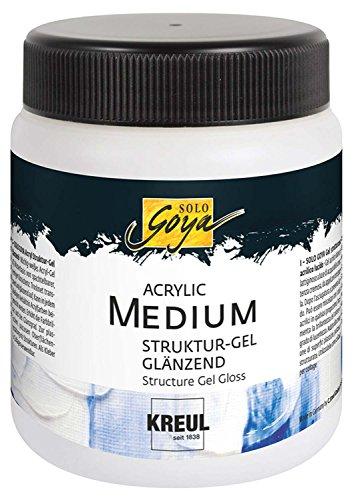 Kreul 87105 - Solo Goya Acrylic Medium, Strukturgel Glänzend, 250 ml Dose, transparent