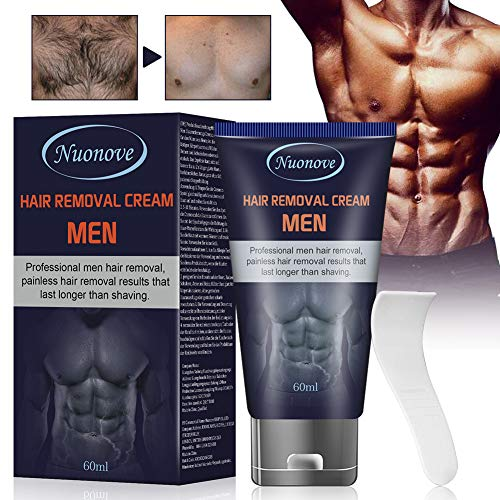 Enthaarungscreme, Haarentfernungscreme, Hair Removal Cream, Enthaarungscreme Männer für Unterarm/Brust/Rücken/Beine/Arm und Privater Bereich, 60ml
