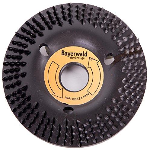 Bayerwald 'Black Biter' - Raspelscheibe - Ø 125 mm x 22,2 mm | schnelles, grobes Abschleifen von Holz & Holzwerkstoffen | für Winkelschleifer
