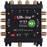 DUR-line MS 58 B - eco - Stromloser Multischalter - Multischalter für 8 Teilnehmer - Geringe Stromaufnahme - 0 Watt Standby Multiswitch [Digital, HDTV, FullHD, 4K, UHD]