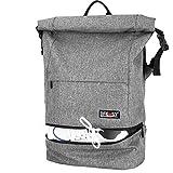Lifeasy Laptop Rucksack Roll Top Sportrucksack 35L Wasserdicht Reisetasche Diebstahlschutz Arbeit Segeltuch Tasche 17 Zoll Tagesrucksack Für Männer & Frauen (grau)