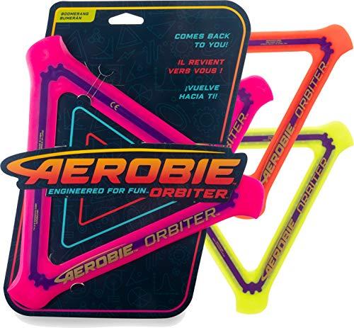Aerobie - 6046408 - Orbiter Boomerang, dreieckiger Boomerang mit Durchmesser 24,5cm, farblich sortiert