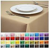 Rollmayer Tischdecke Tischtuch Tischläufer Tischwäsche Gastronomie Kollektion Vivid (Beige 3, 80x80cm) Uni einfarbig pflegeleicht waschbar 40 Farben