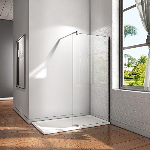 80x200cm Walk in Duschwand Duschtrennwand 10mm Easy-clean Nano Glas Duschabtrennung