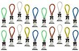 com-four 20 Handtuchhalter-Clips aus Metall, Handtuchhaken zum Aufhängen von Handtüchern oder Trockentüchern, 5 Farben