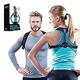 Geradehalter zur Haltungskorrektur Rücken, Schulter für Damen & Herren - Rückenstütze, Rückentrainer eine Größe vorne stufenlos verstellbar - Schultergurt, Posture Corrector für gerader Rücken