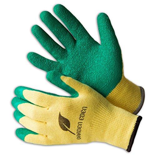 3x Garden Eden Gartenhandschuhe EN 388   Pflanz- und Bodenhandschuhe für Arbeiten im Garten   Ideal auch als Rosenhandschuhe oder Beethandschuhe   Handschuhe zum Graben   Größe: 8 (M)
