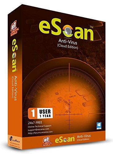 eScan Anti-Ransomware Software 2019 PC Internet Security Auto Backup Anti Ransomware Software Windows Patch Management Windows 7, 8, 8.1 & 10, 1 PC 1 Jahr