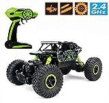 RC Rock Crawler,CrossRace Ferngesteuertes Auto,1:18 RC Auto,4WD Monster Truck/Off Road Fahrzeug(Grün)