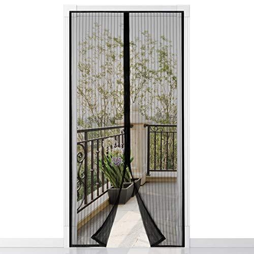 Magnet Fliegengitter Tür Insektenschutz 100x210cm, Der Magnetvorhang ist Ideal für die Balkontür, Klebemontage Ohne Bohren,einfach mit Schwerkraft Sticks zu verschließen