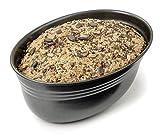 Zenker Brotform oval 26,5x16,5x9,5cm BLACK METALLIC, Brotbackform mit keramisch verstärkt Antihaftbeschichtung, Kuchenform aus hochwertigem Stahlblech, Backform für Brot(Farbe: Schwarz)Menge: 1 Stück