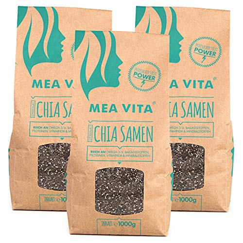 MeaVita Premium Chia Samen, 3er Pack (3 x 1 kg)