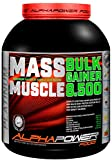 ALPHAPOWER FOOD Maas - Whey, Muscle Weight Gainer I Mega, Muskelmasse & Muskelaufbau - Protein - Eiweiß, Kohlenhydrate - Pulver - Shake für Hardgainer, 2kg Schoko + Creatin, Bcaa, MCT Öl