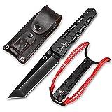 Lionex Tanto Klappmesser Einhandmesser Outdoor Messer EDC Messer Folder, 8,5 cm Klingenlänge (2: Schwarz)