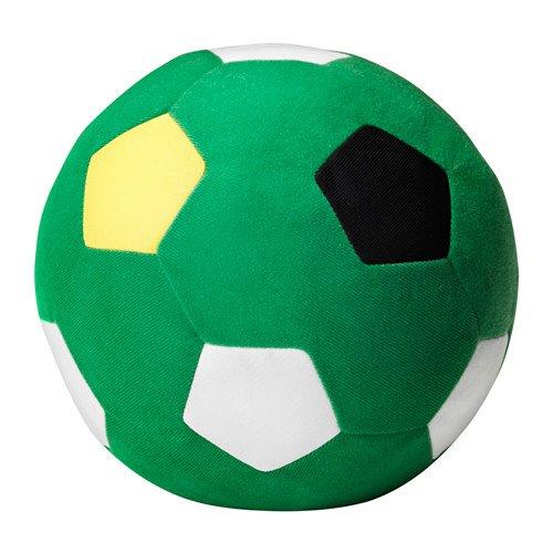 IKEA Stoffball 'Sparka' Softball mit 20cm Durchmesser - Fußball in GRÜN-WEISS - waschbar - keine Altersbeschränkung