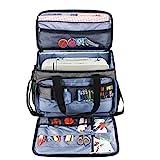 Luxja Nähmaschinentasche, Nähmaschine Tasche, Tasche für Nähmaschine und Extra Nähzubehör, Grau