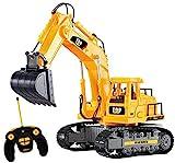New Top Race 7-Kanal voll funktionsfähiger Bagger, elektrischer Bautraktor mit RC Fernbedienung (TR-111)