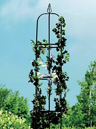 Rosen Obelisk, Rosenturm, Rankhilfe, Rosensäule, Rankgitter, Säule Material: Eisen Maße: Höhe ca. 190 cm. Breite ca. 33 cm.