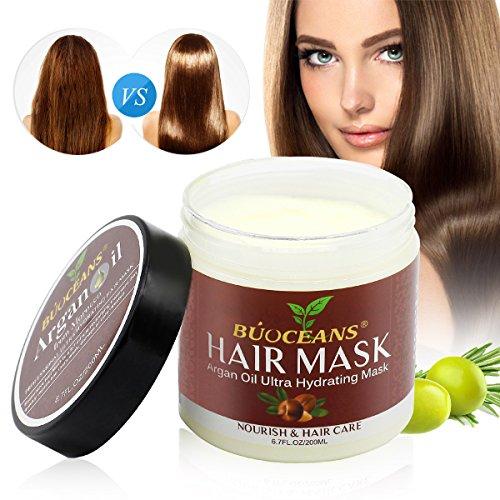 Haarmaske, Haarmaske, Hair Treatment, Conditioner Haarkur, Argan oil & Keratin Haarkuren strapaziertes und trockenes Haare, Hair Mask für gefärbte Haarpflege & Haarglättung, 200 ml