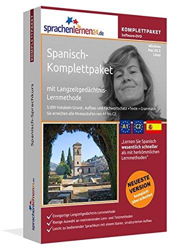 Spanisch-Komplettpaket: Lernstufen A1 bis C2. Fließend Spanisch lernen mit der Langzeitgedächtnis-Lernmethode. Sprachkurs-Software auf DVD für Windows/Linux/Mac OS X