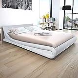 vidaXL Bett mit Memory Schaum Matratze Kunstleder 160x200 cm weiß