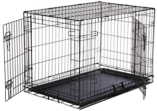 AmazonBasics Hundekäfig mit 2 Türen, Metall, zusammenklappbar, Gr. M