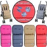 Fußsack/Sommerfußsack (Mit KLIMA GUARD - TECHNOLOGIE) für Kinderwagen/Buggy/Jogger Kinder (ROT)