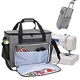 Teamoy Nähmaschinen taschen, Transport und Aufbewahrungs Tasche für die meisten gängigen Haushaltsnähmaschinen und Nähmaschine Zubehör, Grau