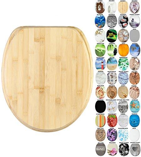 WC Sitz mit Absenkautomatik, viele schöne WC Sitze zur Auswahl, hochwertige und stabile Qualität aus Holz (Bambus)