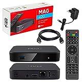 MAG 420 Original Infomir & HB-DIGITAL 4K IPTV Set TOP Box Multimedia Player Internet TV IP Receiver # 4K UHD 60FPS 2160p@60 FPS HDMI 2.0# HEVC H.256 Unterstützung # ARM Cortex-A53 + HDMI Kabel