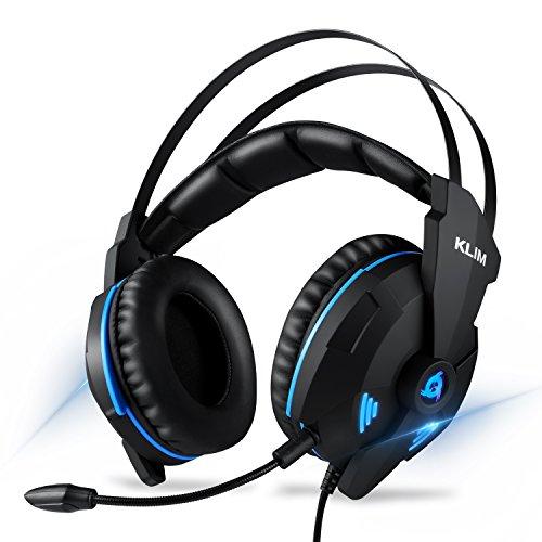 KLIM IMPACT V2 - Gaming Headset und Mikro (USB) - 7.1 Surround-Sound + Isolation - Hochqualitativer Klang + Klangvolle Bässe - Gaming Headset und Mikro für PC/PS4 Videospiele [ Neue 2019 Version ]