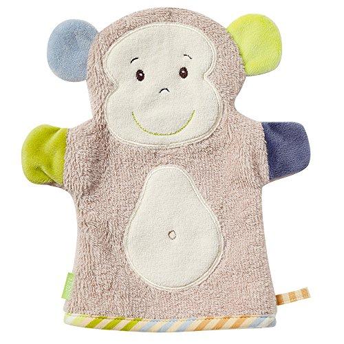 Fehn Waschhandschuh – Waschlappen mit Tiermotiv für fröhlichen Badespaß, für Babys und Kinder ab 0+ Monaten