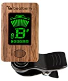 Beatberry Clip-On Stimmgerät aus Holz   Chromatischer Tuner für Gitarre Bass Ukulele Banjo Cello Geige   Mit hochwertiger Geschenkverpackung   Perfekt als Weihnachtsgeschenk für Musiker
