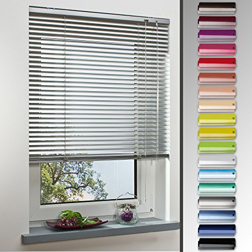 Homelia Alu-Jalousie, Aluminium-Jalousie / 130 x 160 weiß / Wand-und Deckenmontage, Rollo, Jalousie