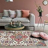 Loartee Boho-Teppich mit Vintage-Blumendesign für Wohnzimmer, Heimdekoration, Textil, multi, 160 x 230cm / 5.3 ft x 7.5 ft