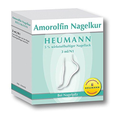Amorolfin Nagelkur Heumann 5% wirkstoffh.Nagellack 3 ml