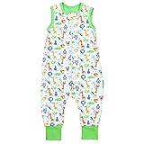 TupTam Unisex Babyschlafsack mit Beinen Unwattiert, Farbe: Safari Grün, Größe: 104-110