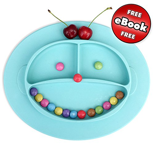 Babylovit Rutschfester Silikonteller Schale Platzdeckchen Tischset Kinderteller