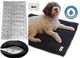 Magnetfeldmatte für Hunde, Magnetfeldtherapie, Magnetfeld - Decke, Therapiedecke, Hundedecke, Hundebett, Hundematte, Größe XL 98 cm x 70 cm in Anthrazit / Schwarz.