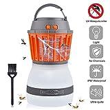 AUSHEN UV Insektenvernichter, USB elektrisch Mückenfalle, 2 in 1 Moskito Lampe mit Wasserfeste und Transportable LED Campinglampe gegen Mücken, Fliegen, Moskitos für Innen- und Außeneinsatz