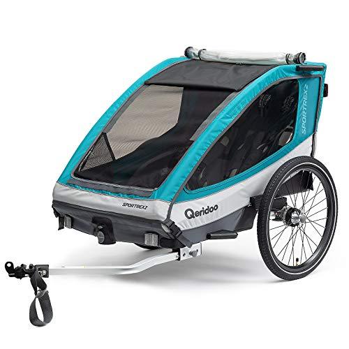 Qeridoo Sportrex2 Basic Kinderfahrradanhänger - Aquamarin