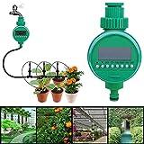 Buycitky Bewässerungsuhr,Automatische Zeitschaltuhr Flexible Bewässerungsdauer Automatische zeitsparende Bewässerung Leichtes Anschließen Elektronische Wasser Timer für Garten Pflanz