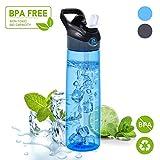 WeluvFit Sport Trinkflasche 700ml Auslaufsicher Wasserflasche - BPA-Frei Sportflasche Trinkhalm mit Pop-up-Düse - Tritan Flasche 24oz für Sport, Wandern, Fahrrad, Camping