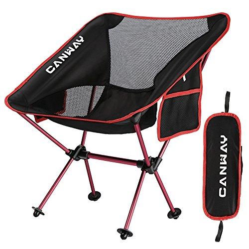 CANWAY Campingstuhl Campingstühle faltbar klappbar tragbar Angel Stuhl Camping Stuhl verstellbar Strandstuhl Angelstuhl Klapphocker mit kleinem Packmaß