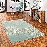Pergamon Designer Teppich Passion Pastell Blau Vintage in 5 Größen